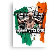 "NEW UFC 194 Conor ""Notorious"" McGregor Canvas Print"