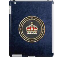 Imperial Tudor Crown over Blue Velvet iPad Case/Skin
