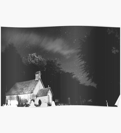 spooky nights,night sky Poster