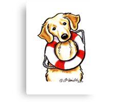 Golden Rescue Canvas Print