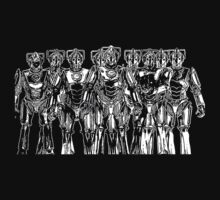 cybermen on black Kids Clothes
