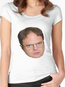 Dwight Shrute from The Office Women's Fitted Scoop T-Shirt