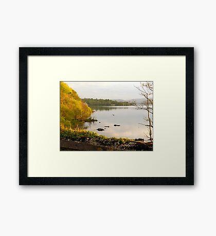 Evening On Lake Gartan Framed Print