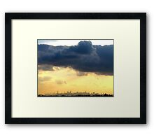 Late afternoon in New York City  Framed Print
