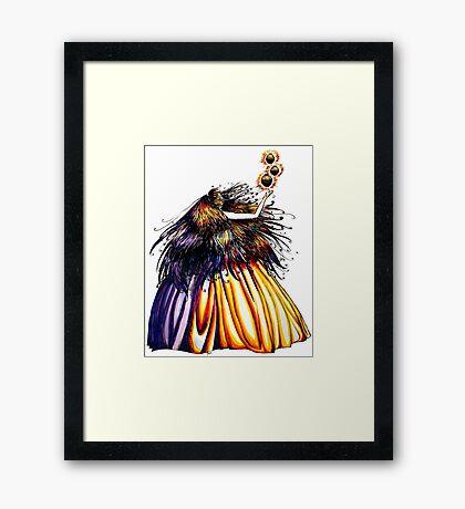 Lantern Princess Framed Print