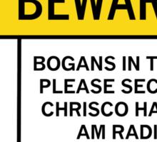 Caution - Bogans Sticker