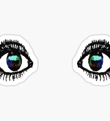 Eyes Tee Color Sticker