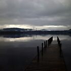 Overcast over Lake Windermere by William Bovington
