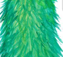 Green Fluff Monster Sticker