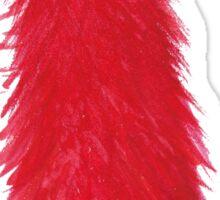 Red Fluff Monster Sticker