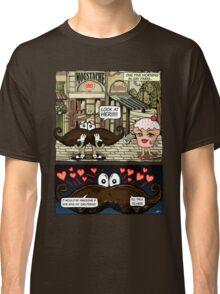 Mustache Loves Cupcake Classic T-Shirt