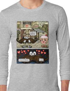 Mustache Loves Cupcake Long Sleeve T-Shirt
