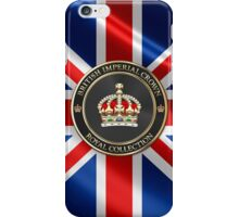 British Imperial Crown over Flag of the United Kingdom iPhone Case/Skin