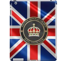 British Imperial Crown over Flag of the United Kingdom iPad Case/Skin