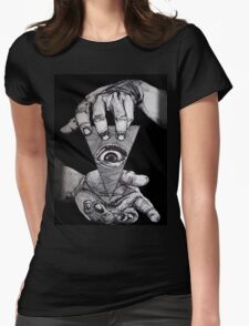THE THIRD EYE Womens Fitted T-Shirt