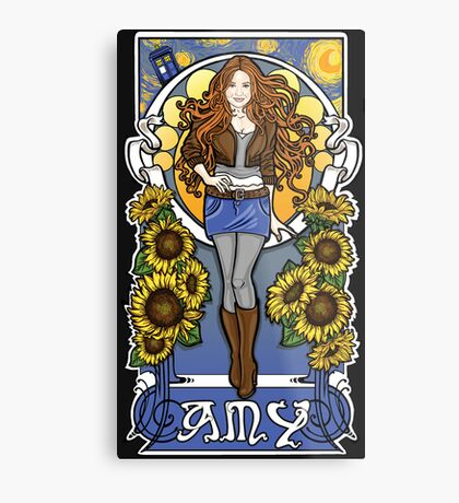 The Girl Who Waited (Amy under a Van Gogh sky) Metal Print