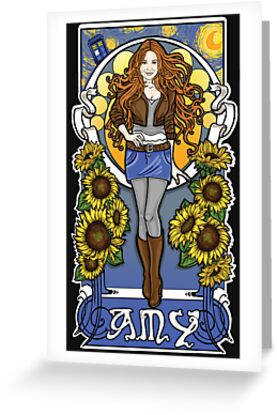 The Girl Who Waited (Amy under a Van Gogh sky) by Ameda Nowlin