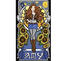 The Girl Who Waited (Amy under a Van Gogh sky) Photographic Print
