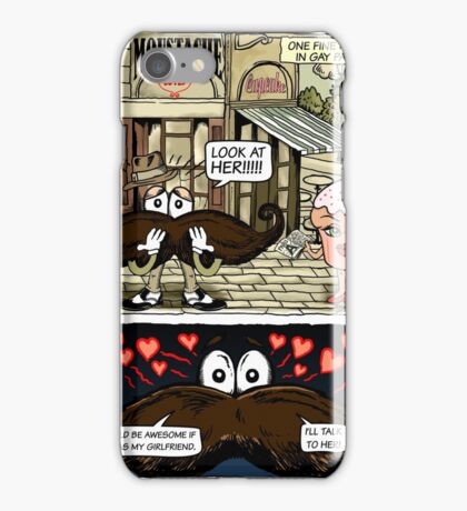 Mustache Loves Cupcake iPhone Case/Skin
