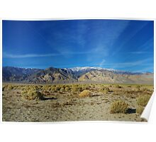 High desert and White Mountains, Nevada Poster
