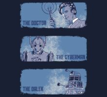 The Doctor, The Cyberman, and The Dalek by TeeKetch