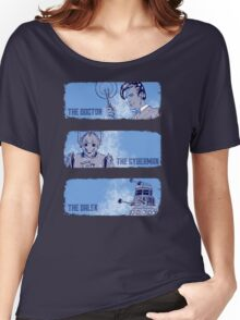 The Doctor, The Cyberman, and The Dalek Women's Relaxed Fit T-Shirt