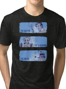 The Doctor, The Cyberman, and The Dalek Tri-blend T-Shirt