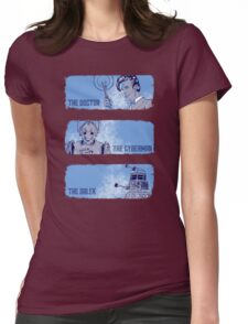The Doctor, The Cyberman, and The Dalek Womens Fitted T-Shirt