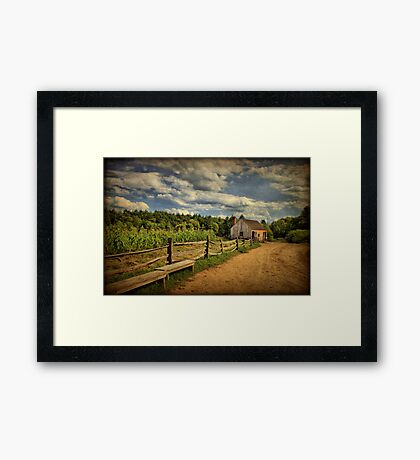 Picturesque Countryside  Framed Print