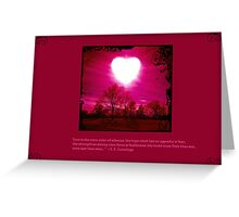Love is the Voice Greeting Card