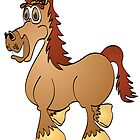 Brown Horse Cartoon by Graphxpro