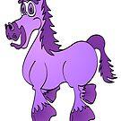Purple Cartoon Horse by Graphxpro