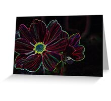 neon red Greeting Card
