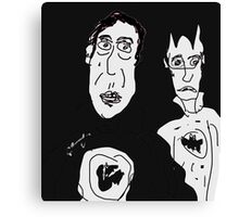 Ironic Superheroes Canvas Print