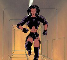 Aeon Flux (Production Cel) by Sebastian Sindermann
