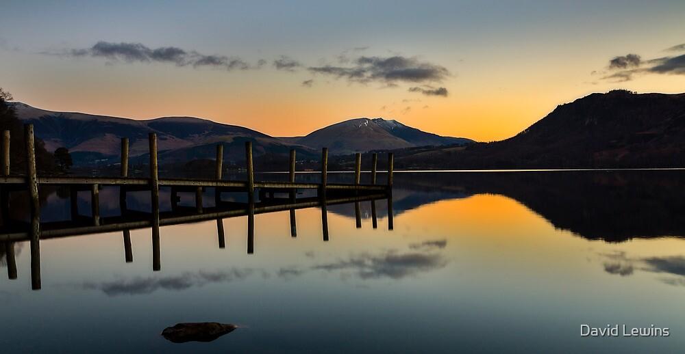 Jetty Sunrise - Derwentwater by David Lewins