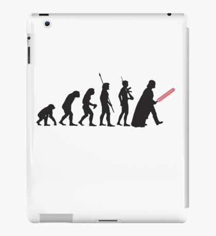 Human evolution Star wars iPad Case/Skin