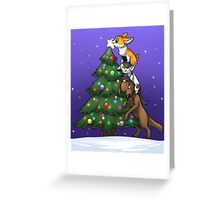 Tree Topper Tower Greeting Card