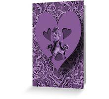 ღ♥¸¸.•*´¯`♥ღ PURPLE HEARTS OF LOVE VALENTINE ღ♥¸¸.•*´¯`♥ღ Greeting Card