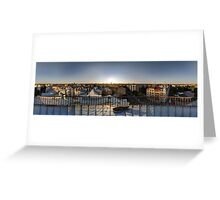 SUNSET OWER THE RIGA, panorama, Riga, Latvia Greeting Card