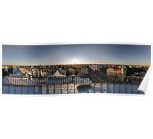 SUNSET OWER THE RIGA, panorama, Riga, Latvia Poster