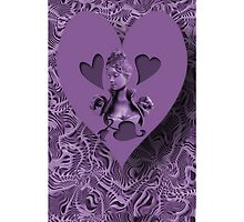 ??¸¸.•*´¯`?? PURPLE HEARTS OF LOVE IPHONE CASE  ??¸¸.•*´¯`?? by ✿✿ Bonita ✿✿ ђєℓℓσ