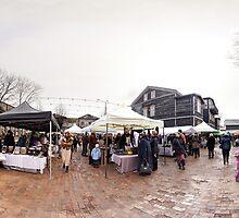 Trade fair panorama, Riga, Latvia by paulsrphoto