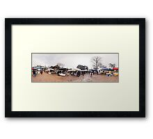 Trade fair panorama, Riga, Latvia Framed Print