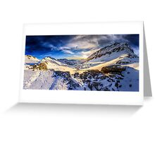 Beautiful sunset view of the Alps Mölltaler Gletscher Greeting Card