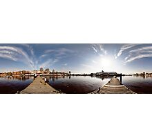On the other side of port panorama, Riga, Latvia Photographic Print