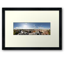 From the birds eye panorama, Riga, Latvia Framed Print