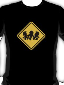 Beware of Smurfs Road Sign T-Shirt