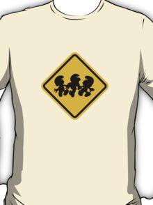 Beware of Smurfs Road Sign T-Shirt