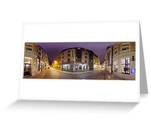 Two ways out panorama, Riga, Latvia Greeting Card